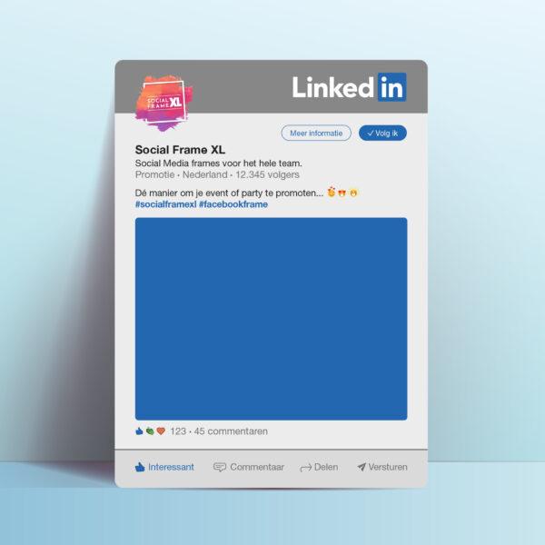 LinkedIn bord maken - Social Media frame