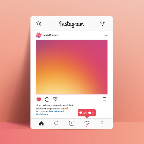 Instagram bord maken - Social Media frame