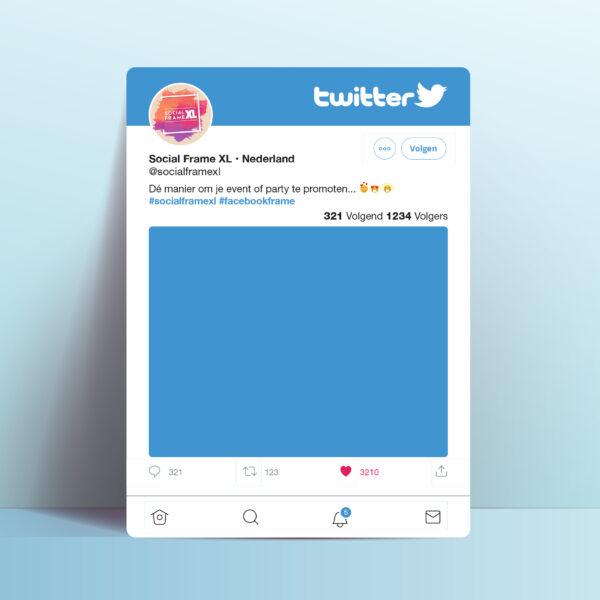 Twitter frame maken